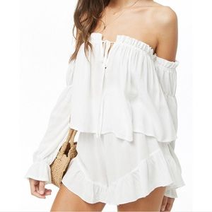 Forever 21 | White 2 Piece Shorts Set